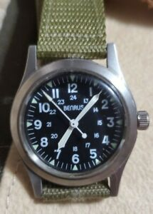 Benrus MIL-W-46374 Military Field Watch with 17j Mvt. BOTH BOXES