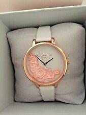Olivia Burton London Ladies 3D Blush Rose Gold Watch OB16FS85 Brand New