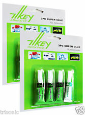 6 TUBES SUPER GLUE PLUS 2 DEBONDER MULTI-PURPOSE EXTRA STRONG CRAFT SUPPLIES NEW