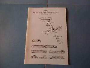 BLS  Verzeichnis des Rollmaterials Stand 1. Januar 1984