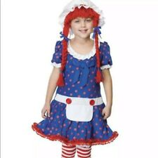 Enchanted Rag Doll Raggedy Anne Child Costume Size Large 9