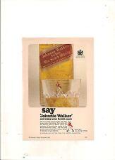 ORIGINAL VINTAGE 1965 JOHNNIE WALKER AUSTRALIAN A5 COLOR ADVERT