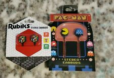 Rubik's Cube &  Pac- Man Collectable Stereo Earbuds