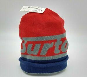Burton Snowboards Kids Winter Snow Ski Beanie Knit Hat Licensed NEW With Tags