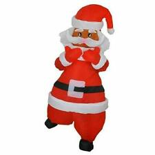 Santa Claus Inflatable Christmas Costume Cosplay Suit Jumpsuit Outfit w/Fans