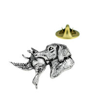Labrador with Duck in mouth English Pewter Lapel Pin Badge XTSPBA25