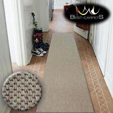 Runner Rugs SIZAL FLOORLUX coffee PLAIN modern Stairs Width 70,80,100,120cm LONG