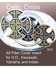 Drifter, Harley, Indian Motorcycle Filter Cover Emblem Celtic Cross Zambini Bros