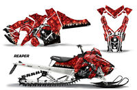 Snowmobile Graphics Kit Decal Sticker Wrap For Polaris Axys SKS 15-16 REAPER RED