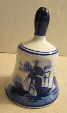 DELFT'S BLUE MINIATURE BELL PRODUCT OF HOLLAND WINDMILLS
