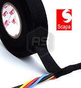 3 Rolls 18mm x 25m Scapa Rayon Fabric Cloth Wiring Harness Loom Tape