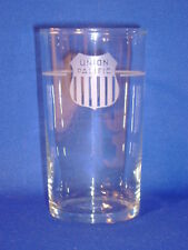 UNION PACIFIC RAILROAD GLASS JUICE TUMBLER 4 3/8""