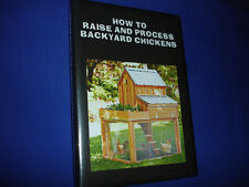 V6    HOW TO RAISE AND PROCESS BACKYARD CHICKENS DVD GUIDE -CANNING-BUTCHERING