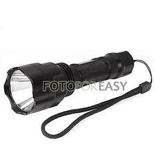 Portable Cree Q5 LED Bulb Flashlight Torch Waterproof Lamp 5 Mode Black +battery