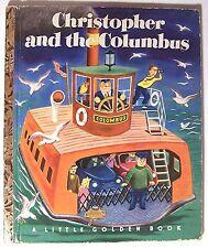 CHRISTOPHER AND THE COLUMBUS K. &  B. Jackson 1951 Little Golden Book 1st Ed - M
