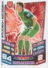 N°003 WOJCIECH SZCZESNY # POLAND ARSENAL.FC TRADING CARD MATCH ATTAX TOPPS 2013