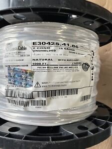 16/2 PLENUM SPEAKER SECURITY CABLE WIRE E3042S.41.86 general Cable 1000 Ft