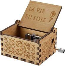 Boîte à musique en bois Wooden Music Box La vie en rose  NEUF / SOUS EMBALLAGE