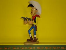 Figurine Atlas LUCKY LUKE 2003 d'après Marie LEBLON - Lucky Luke tirant 2 colts