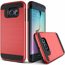 Luxury Brushed Hybrid Dual Layer Hard Back Case Cover For Samsung Galaxy Phones