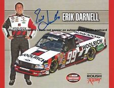 ERIK DARNELL AUTOGRAPHED 2006 WOOLRICH RACING NASCAR TRUCK SERIES PHOTO POSTCARD