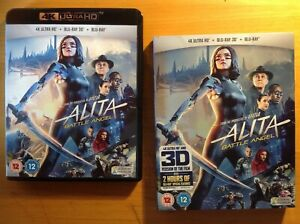 ALITA BATTLE ANGEL (4K UHD Blu-ray) + SLIPCOVER. includes 3D Version