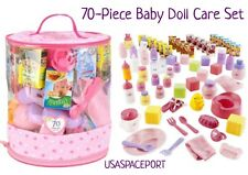 70pc Baby DOLL CARE SET Potty Chair+Dishes+Diapers+Food+Toys Lot Girls Kids GIFT