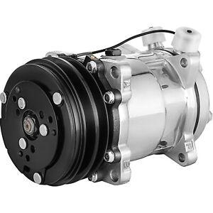 VEVOR for SD508 Sanden AC Compressor V-Belt 2 Groove Pulley 3/4 7/8 Ports