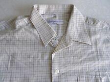 ✿✿ Kurzarmhemd Hemd Ahlemeyer Excellent KW 44 beige kariert Herrenhemd Oberhemd