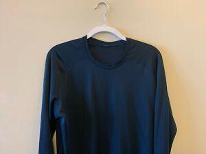 Lululemon Metal Vent Tech 2.0 Long Sleeve Workout Shirt Top Navy Blue -- (sz L)