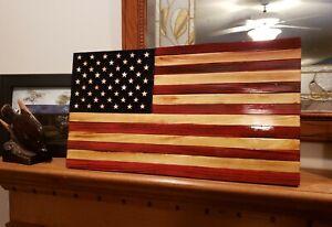 Mini Rustic Wood Flag