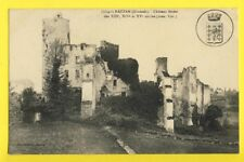 cpa FRENCH CASTLE 33 - RAUZAN (Gironde) CHÂTEAU FÉODAL Ecusson Jean Sans Terre