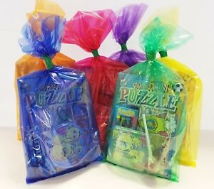 20 x MULTI COLOURED  PRE FILLED KIDS UNISEX PARTY LOOT BAGS FOR GIRLS BOYS