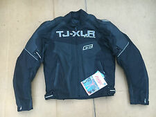 "TJ-XJR  Men's Leather & Textile Motorcycle Motorbike Jacket UK 40"" Chest (H79)"