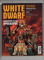 White Dwarf Magazine Games Workshop July 2013 Warhammer 40K Apocalypse