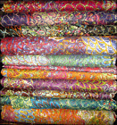Indian 100% Rayon Cotton Fabric Cloth Dress Material Price Per Yard