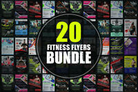 20 Fitness Flyers Bundle - Photoshop Templates - Easy Editable - 20 Flyers  FAST