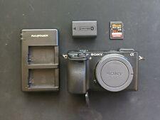 Sony Alpha A6300 24.2MP Digital Camera - Black (Body Only) - Broken Battery Door