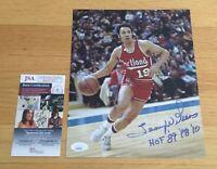 Lenny Wilkins NBA HOF Signed Autograph 8x10 Photo w Inscription JSA COA