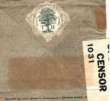 BELGIUM *Tree Logo* Cover WW2 ART NOUVEAU ADVERT 1940 Censor GB {samwells}MA109
