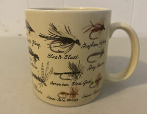 Russ Fly Fishing Lures Cabin Insects Bugs Bait Coffee Tea Mug Cup