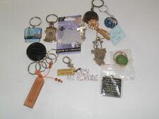 Vintage and New Keychain Key Chain Lot Metal Wood Rhinestones