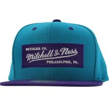 Mitchell And Ness Retro Logo Snapback Cap (purple / dark teal)