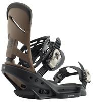 NEW BURTON MISSION EST Snowboard Binding - Black/Mocha -  Men's size Medium