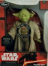 Star Wars Talking Yoda The Force Awakens Light Up Lightsaber Moving Eyes. Nib