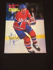 Stephane Richer Signed Montreal Canadiens Magazine Photo - PSA Guarantee