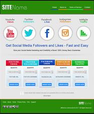 Premium social media rivenditore sito Web aziendale per la vendita con libera installazione