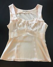 Nanette Lepore Silk Camisole Sleeveless Top Tank Peach Pink Lace Came,  Size 6