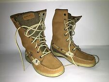 Women's Sperry TopSiders Mid-Calf Boots Leather Upper Fall/Winter Size 7 Med