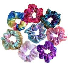 8pcs Women Shiny Metallic Hair Scrunchies Ponytail Holder Elastic Ties Bands